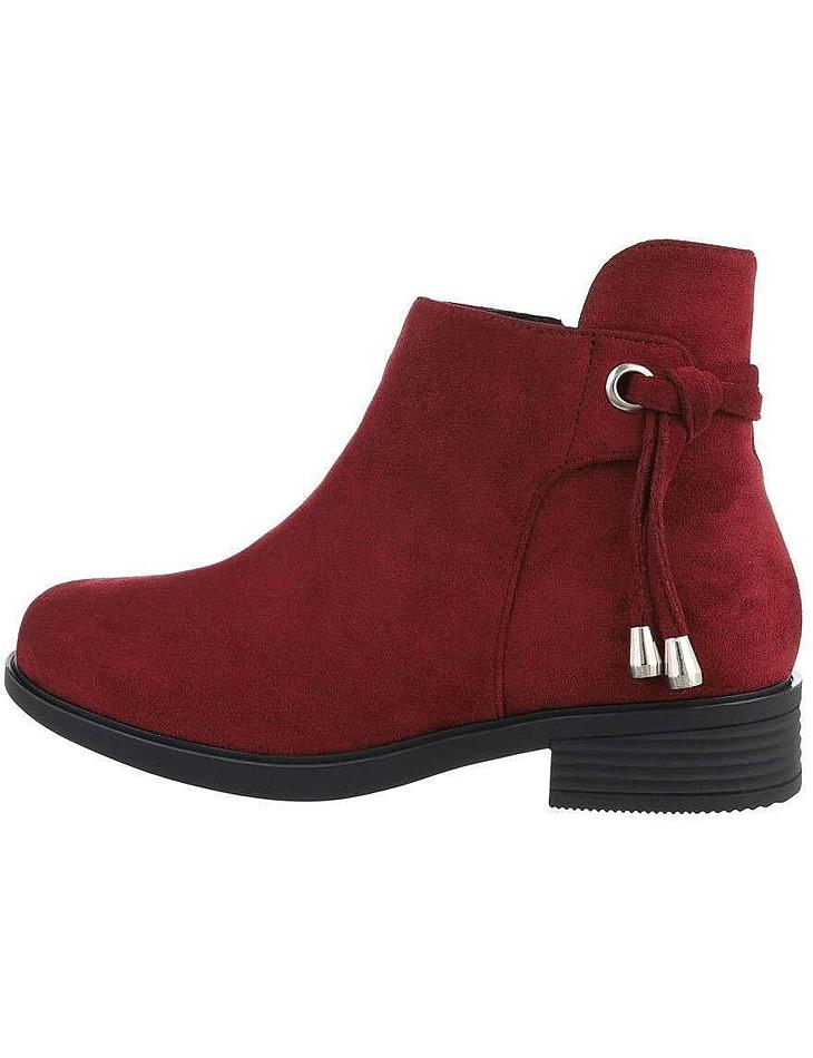 Dámské semišové kotníkové boty vel. 38