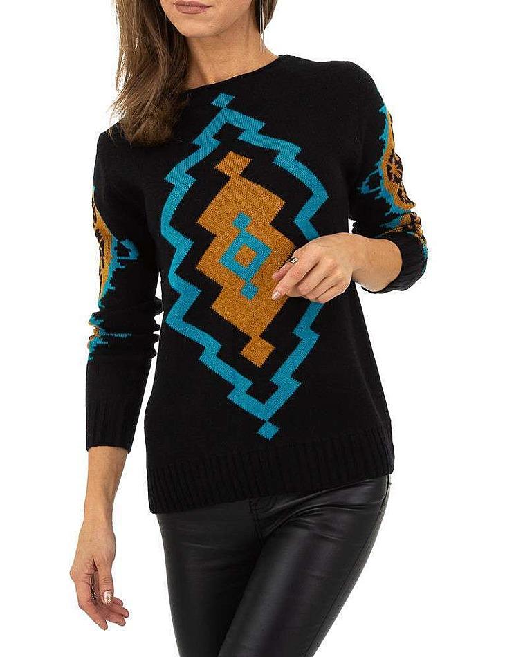 Dámský svetr se vzorem Whoo Fashion