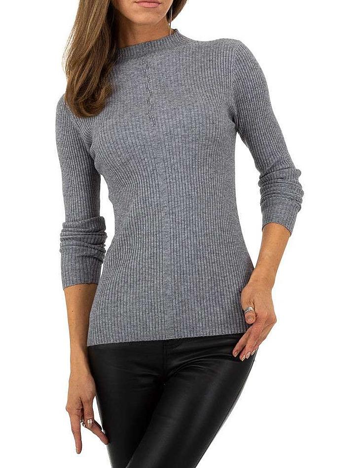 Dámský šedý svetr Whoo Fashion