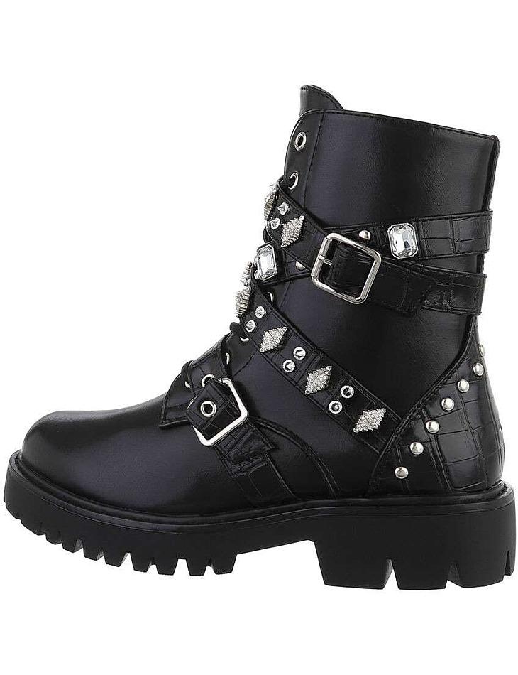Dámské kotníkové boty - černé vel. 38