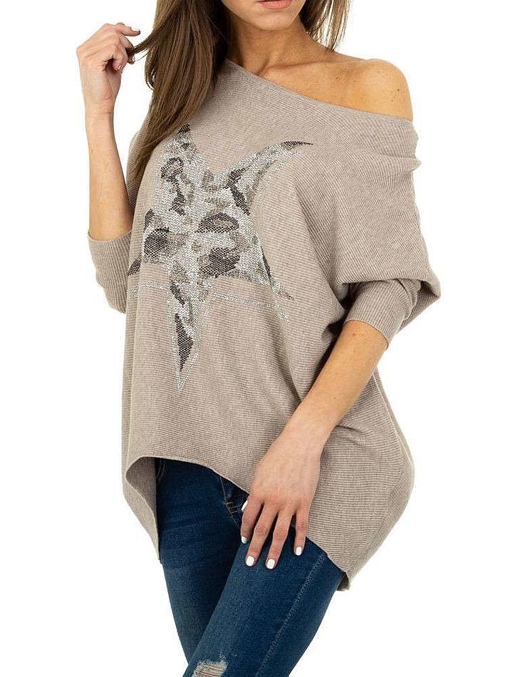 Dámský moderní dlouhý svetr