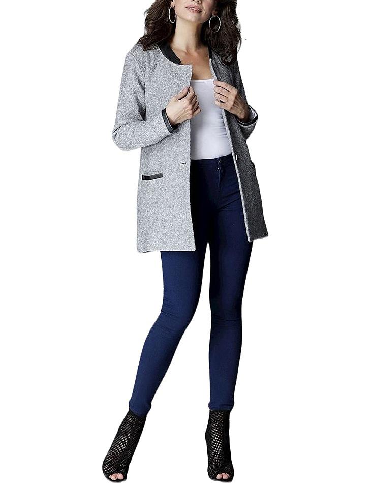 Elegantní šedý kabátek vel. L