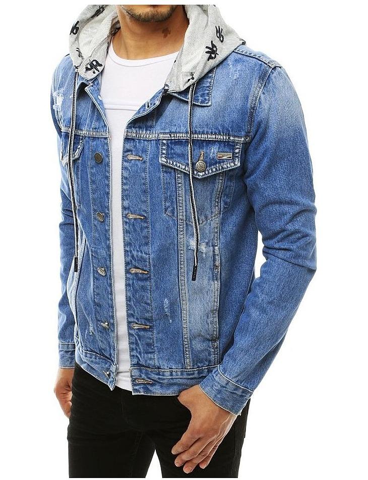 Světle modrá džínová pánská bunda vel. 2XL