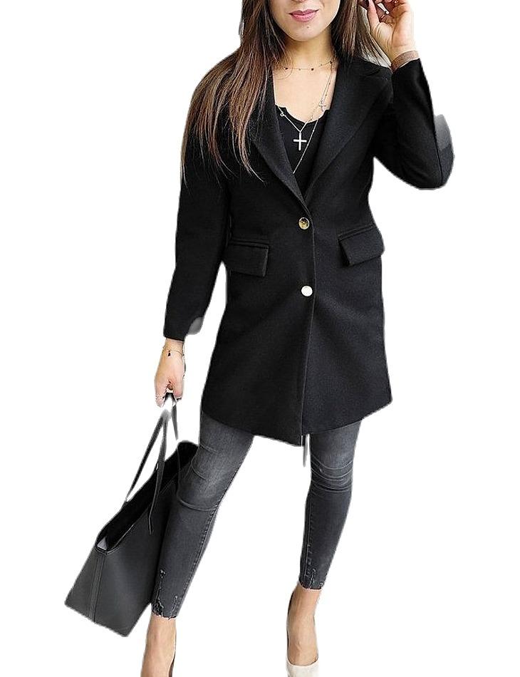 Dámský černý podzimní kabát vel. L