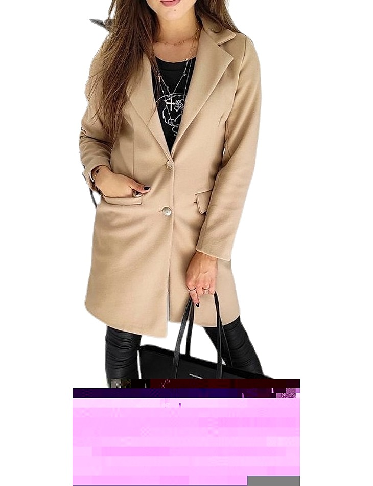 Béžový dámský kabát vel. XL