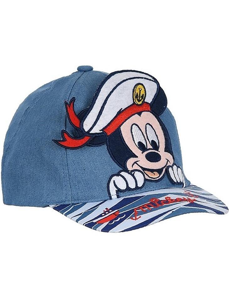 Modrá džínová chlapecká kšiltovka Mickey Mouse vel. 48