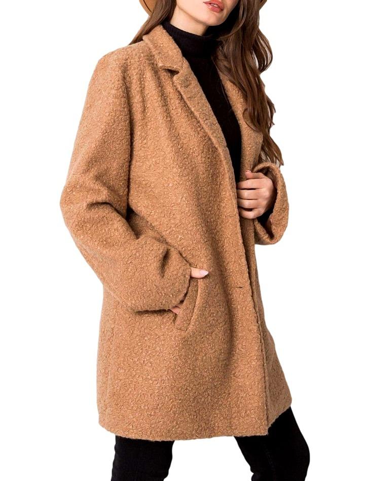Béžový dámský teddy kabátek vel. S/M