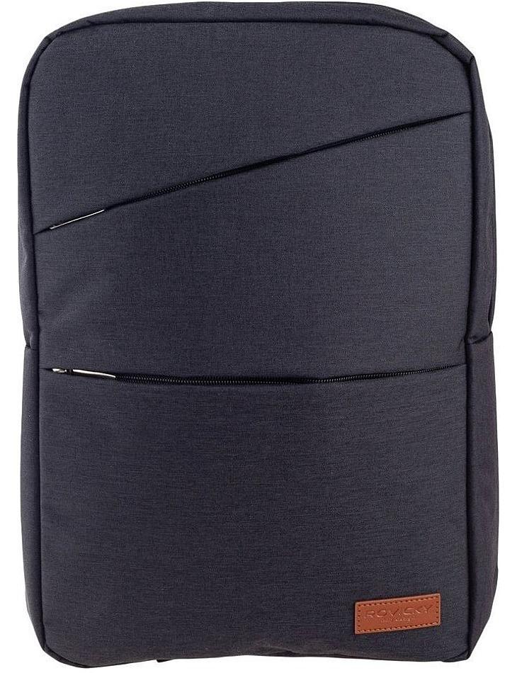 Levně Rovicky černý batoh s kapsou na notebook vel. ONE SIZE