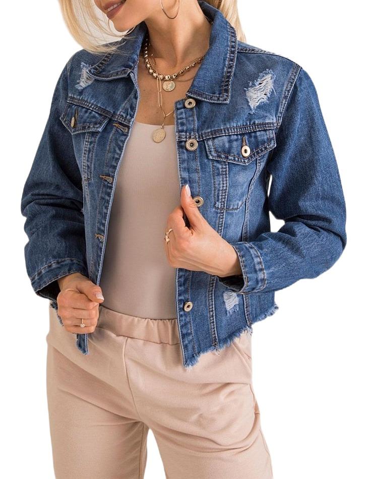 Krátká džínová bunda vel. L