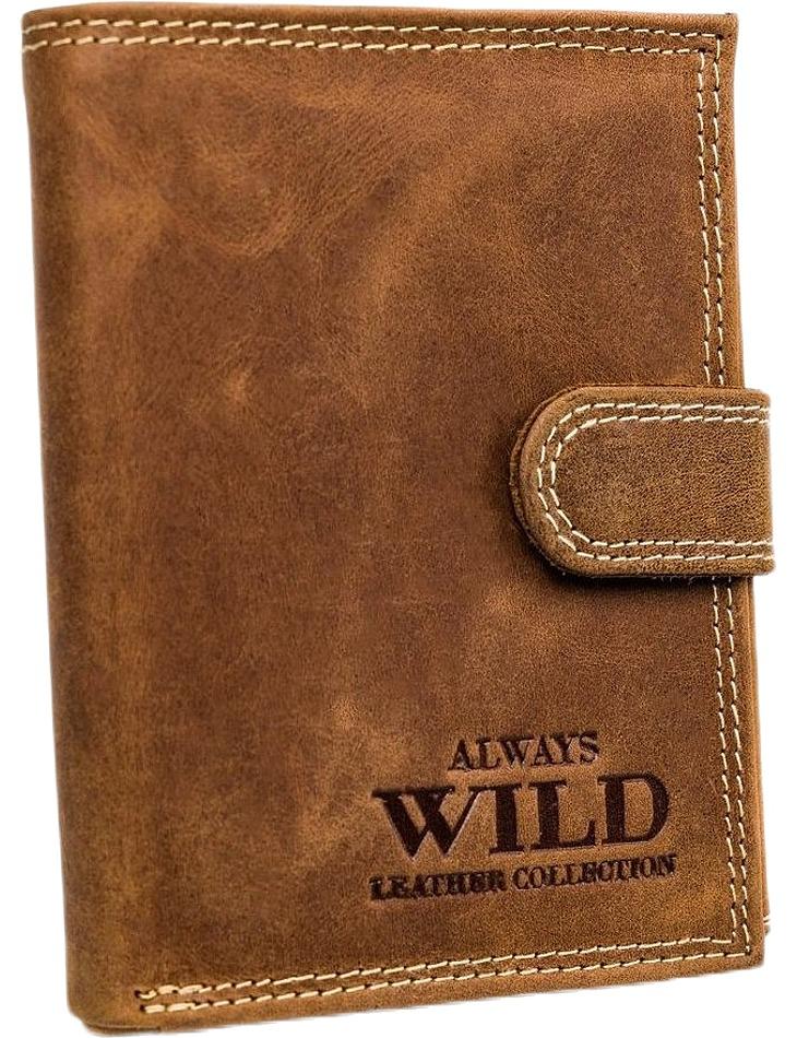 Always wild hnědá pánská kožená peněženka vel. ONE SIZE