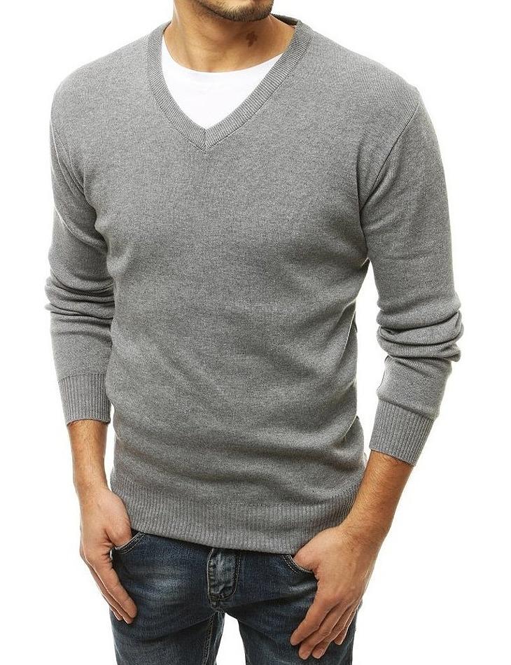 šedý pánský svetr vel. M