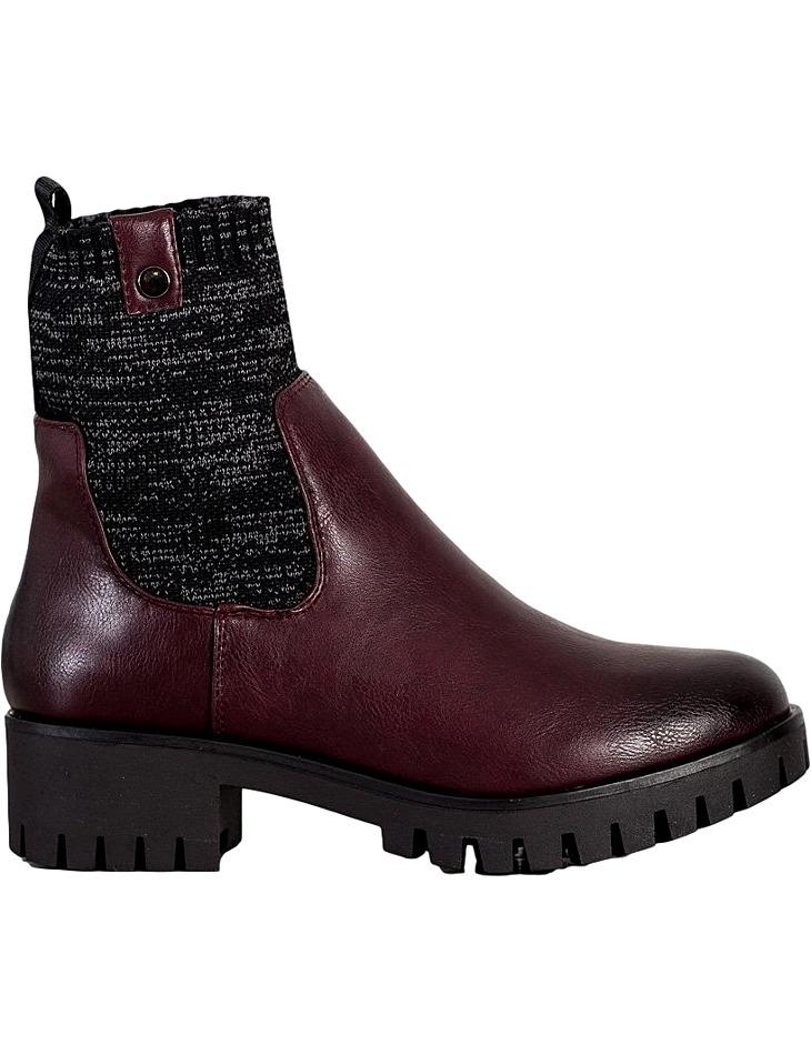 Bordó kotníkové boty na platformě vel. 36