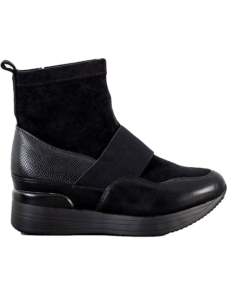 černé kotníkové boty na platformě vel. 36