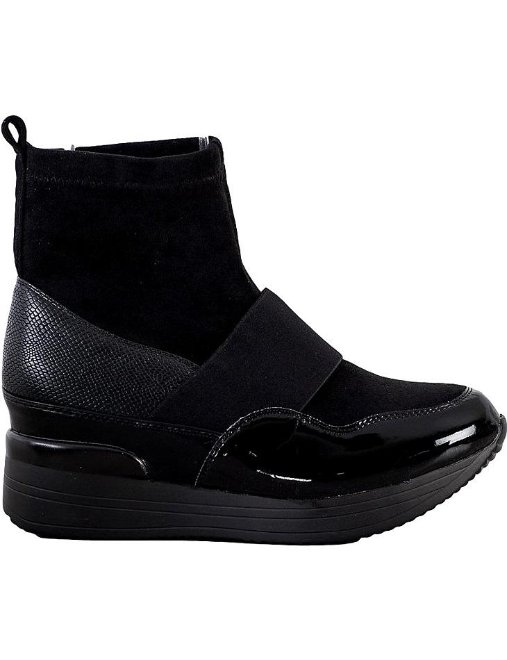 černé kotníkové boty na platformě vel. 37