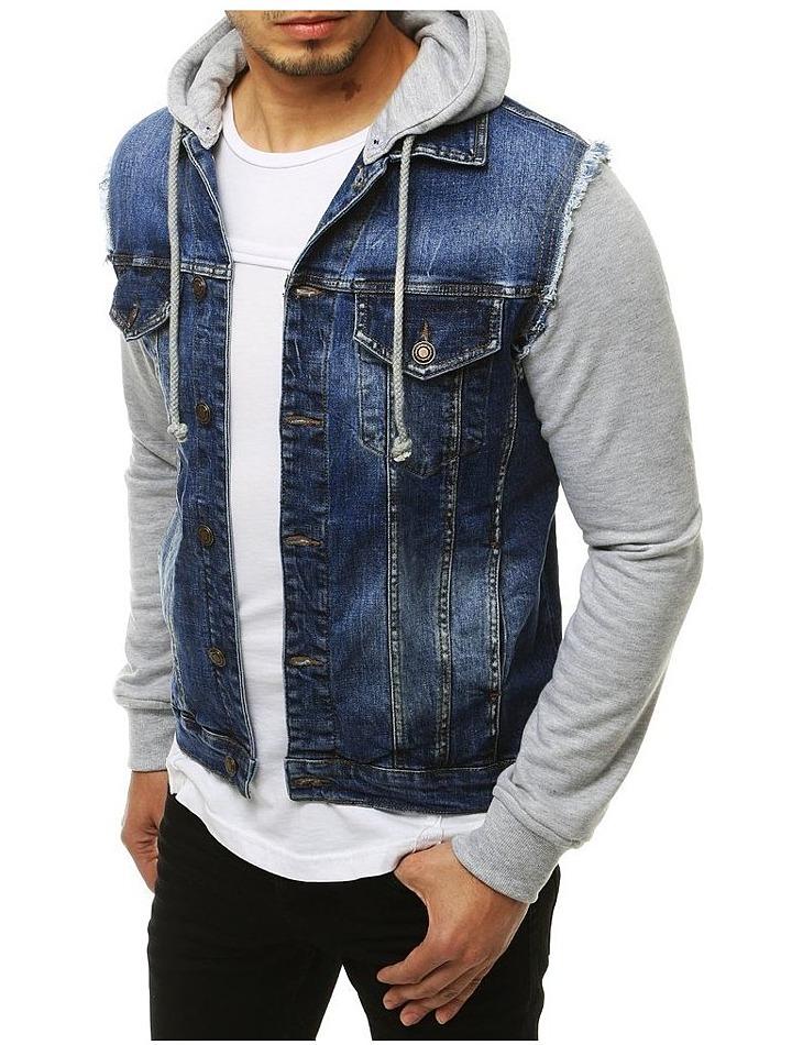 Pánská modrá džínová bunda vel. L