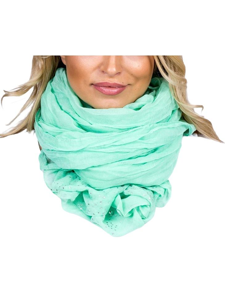 Mátově zelený šátek vel. ONE SIZE