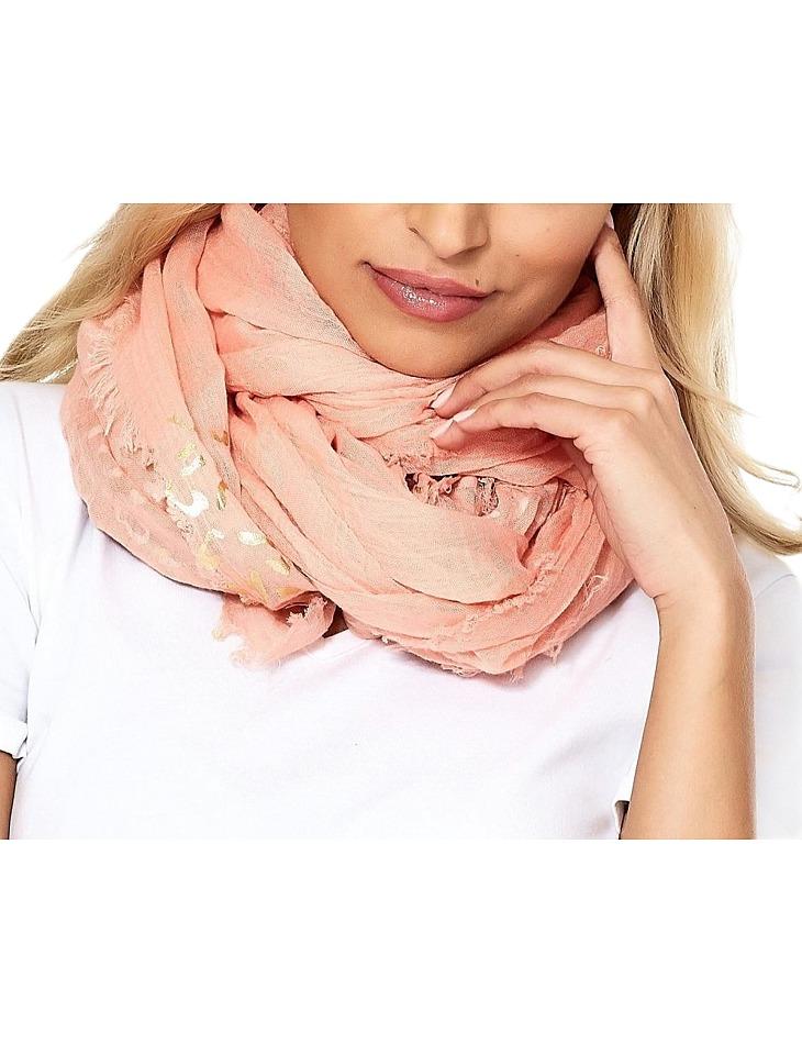 Světle-oranžový dámský šátek vel. ONE SIZE