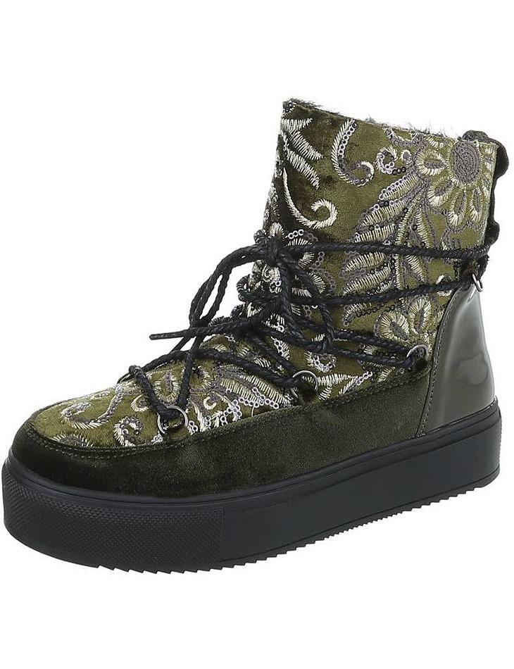 0640af36411 Dámské vysoké zimní boty