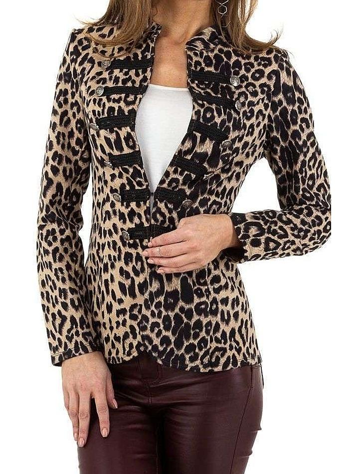 Dámské leopardí sako vel. S/36