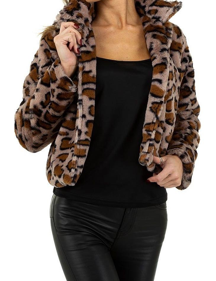 Dámský leopardí kabátek vel. S/36