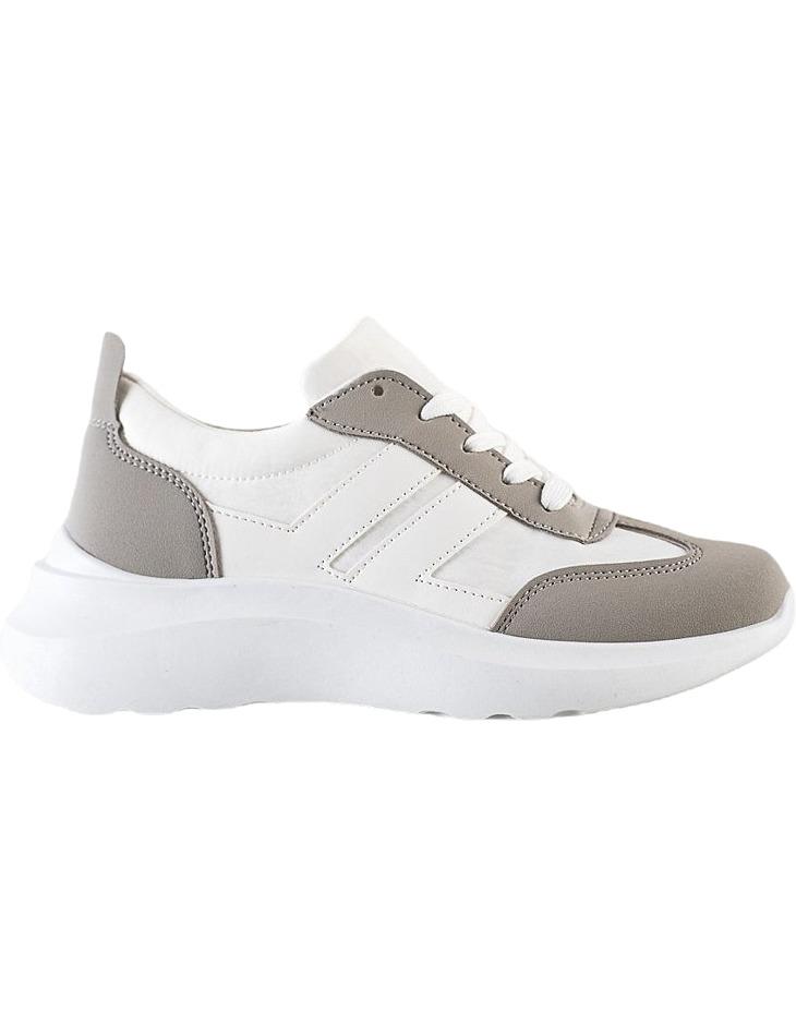 Bílo-šedé sportovní boty na platformě vel. 38