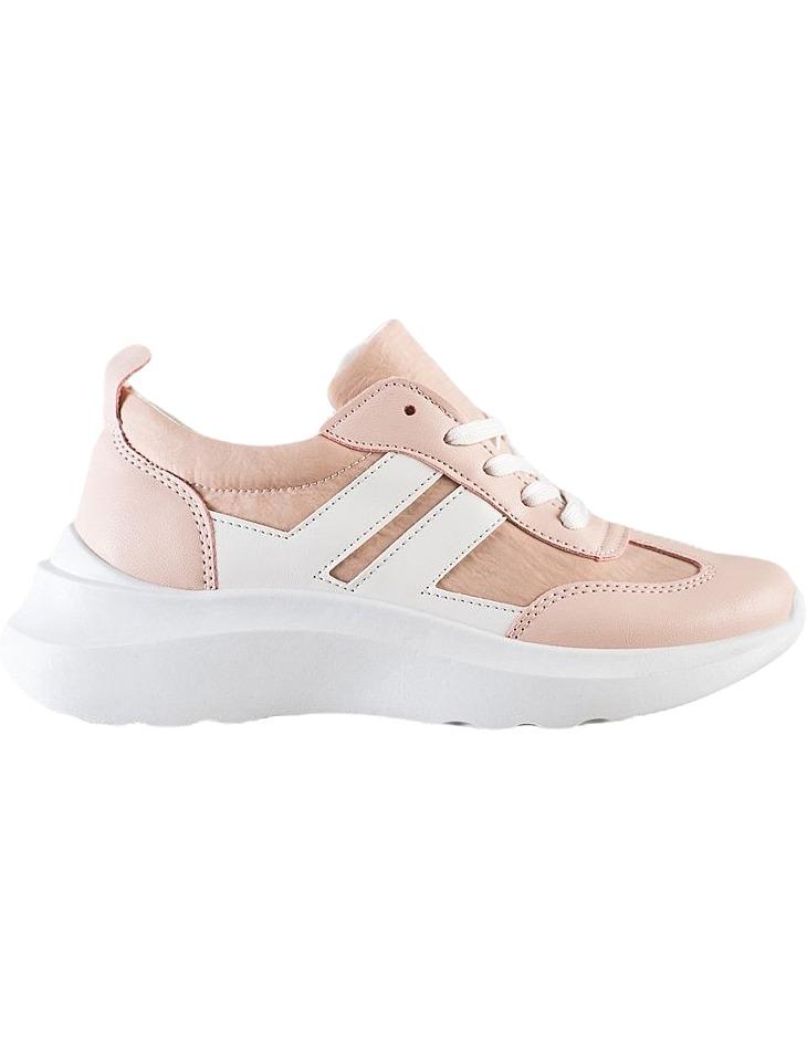 Růžovo-bílé sportovní boty na platformě vel. 36
