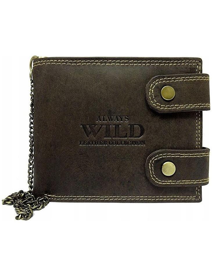 Always wild hnědá pánská peněženka vel. ONE SIZE