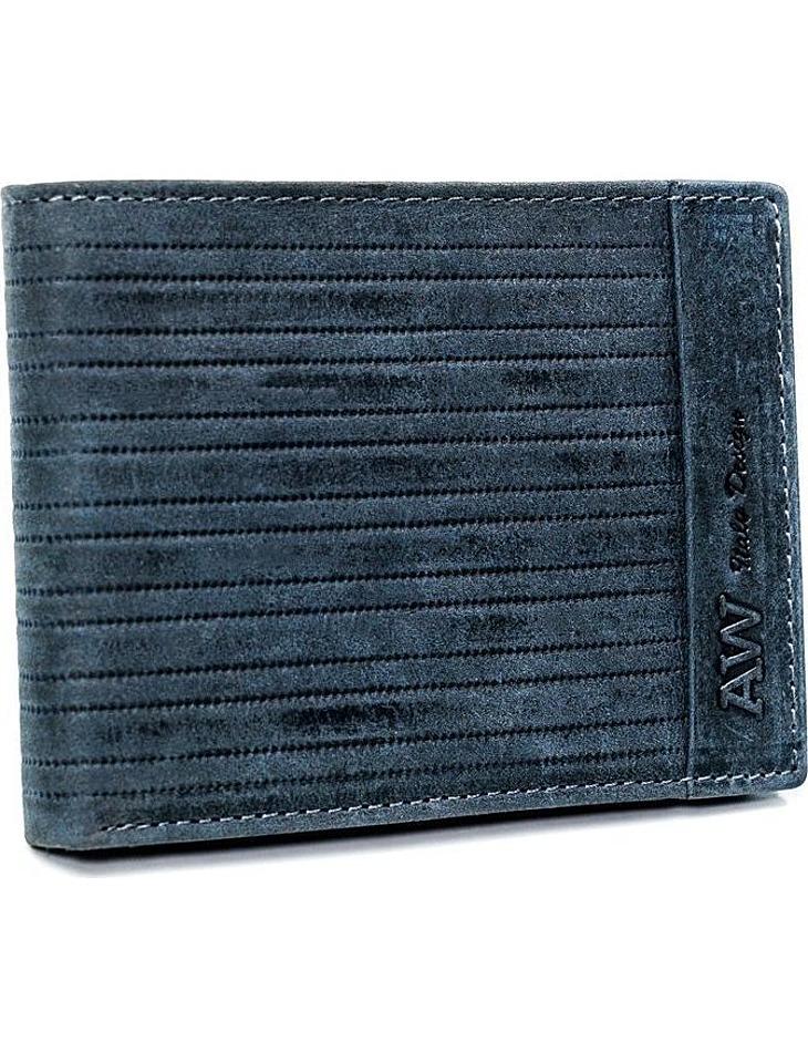 Always wild® modrá pánská kožená peněženka vel. ONE SIZE