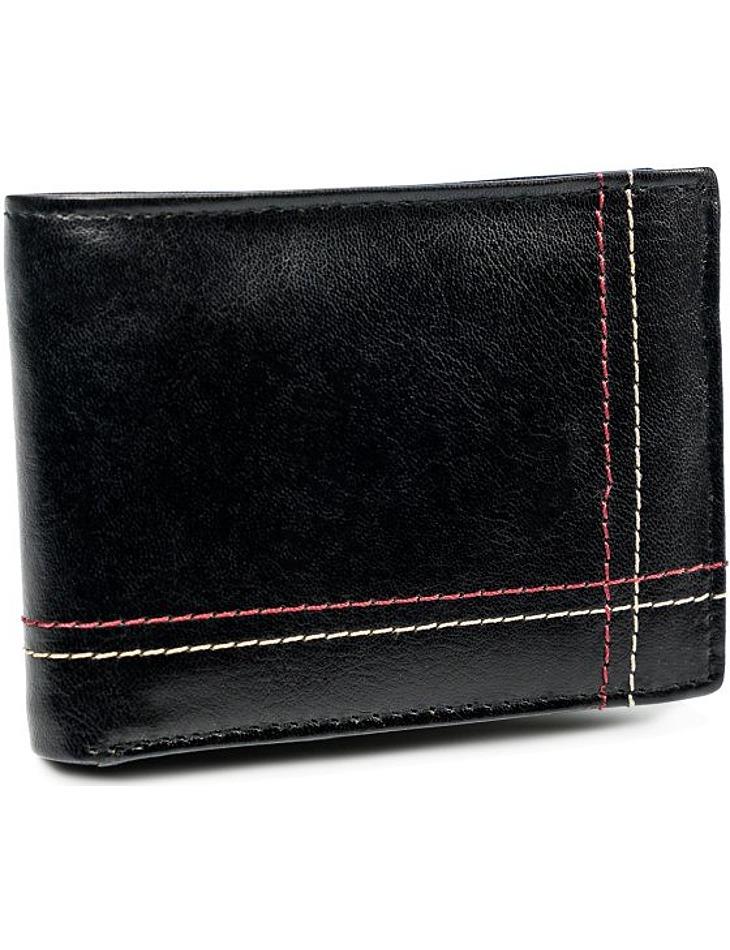 Always wild černá pánská kožená peněženka vel. ONE SIZE