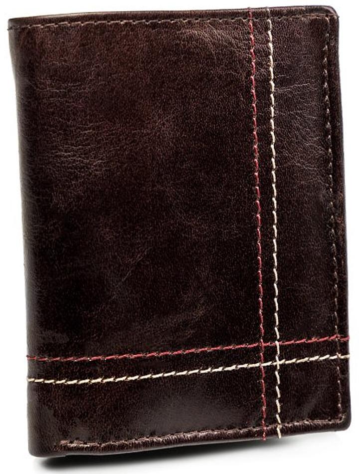 Pánská hnědá kožená peněženka always wild® vel. ONE SIZE