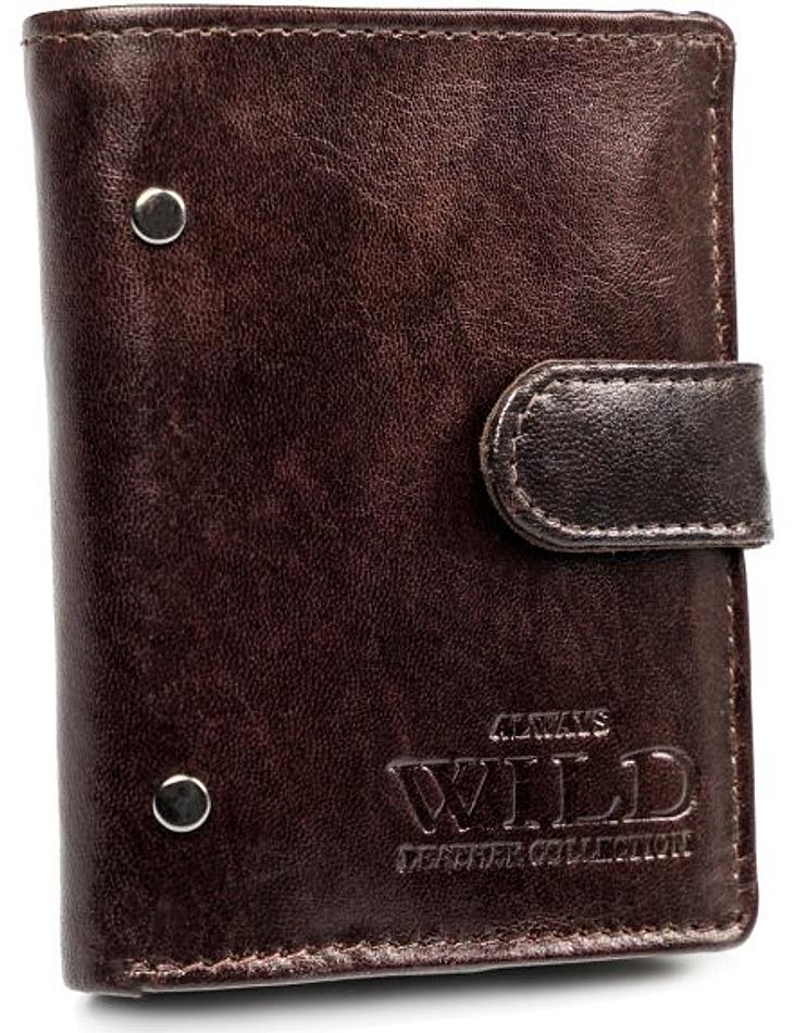 Pánská hnědá kožená peněženka always wild vel. ONE SIZE