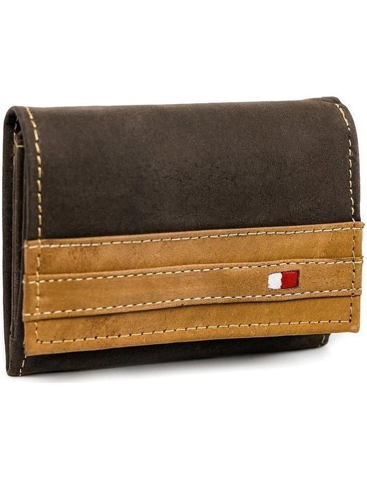 Always wild® hnědá pánská kožená peněženka vel. ONE SIZE