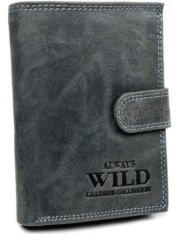 Always wild šedá kožená větší peněženka vel. ONE SIZE