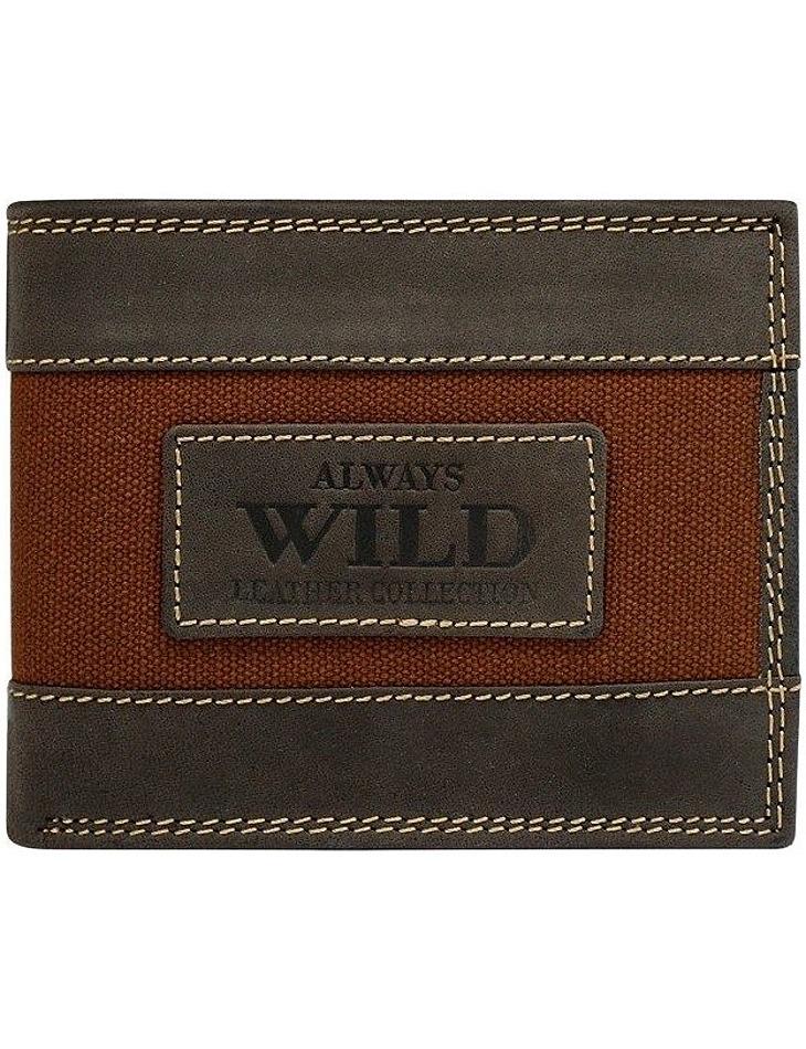 Always wild originální hnědá peněženka vel. ONE SIZE