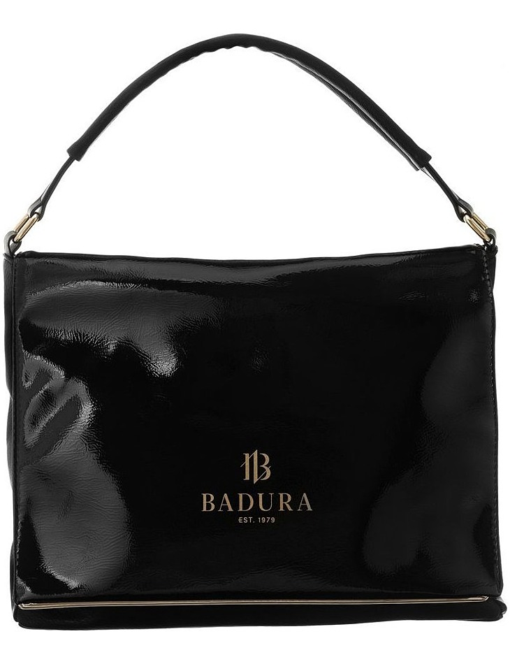 Badura černá lesklá elegantní kabelka vel. ONE SIZE