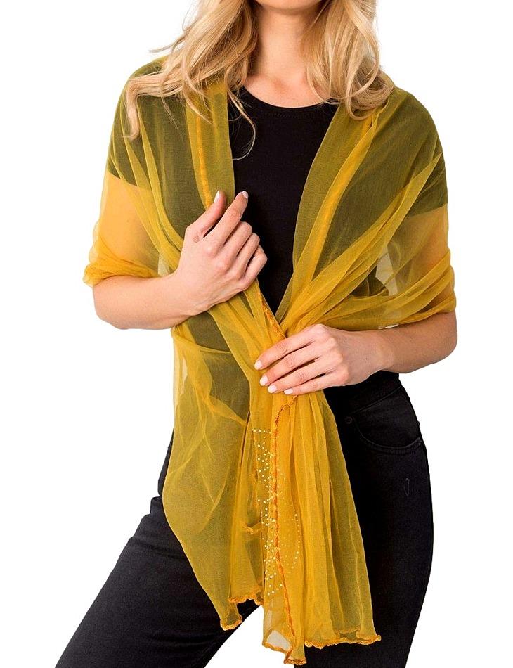žlutý průsvitný šátek vel. ONE SIZE