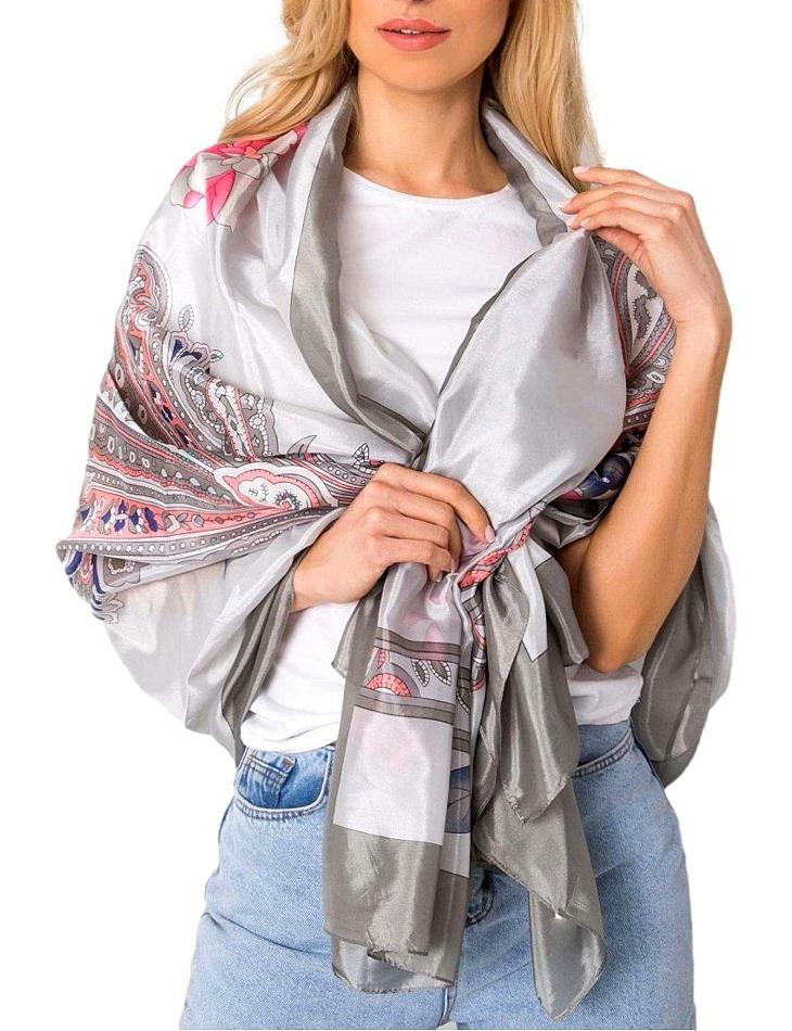 šedý šátek s mandalami vel. ONE SIZE