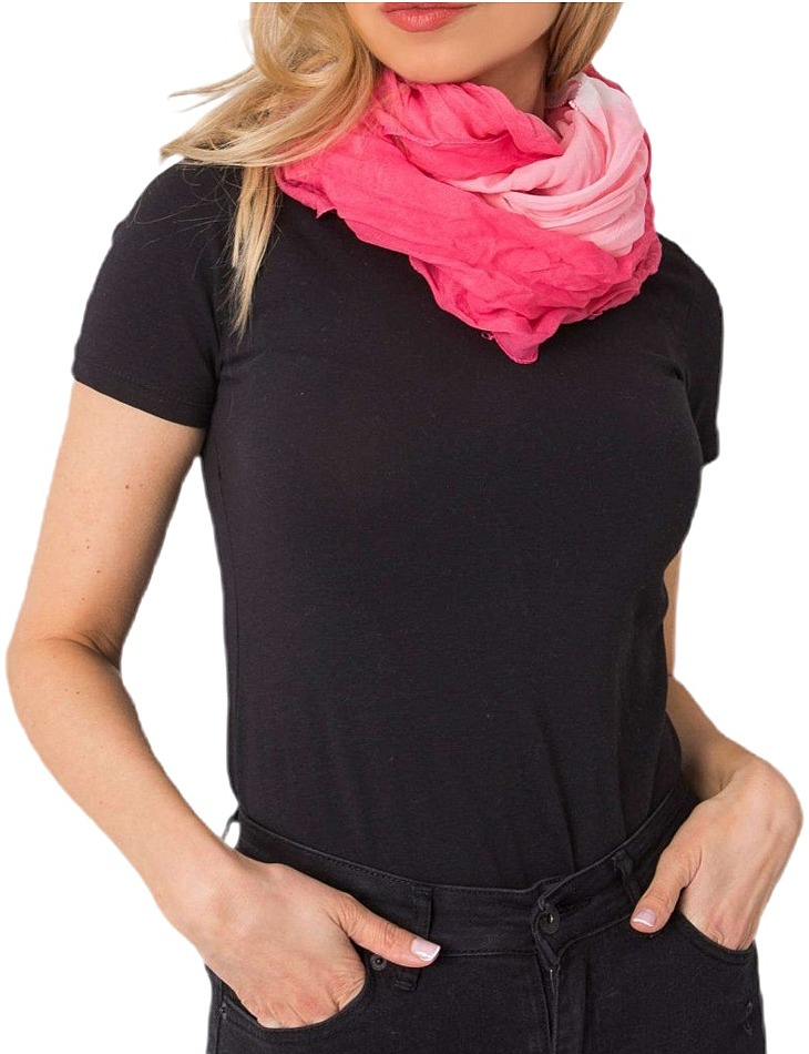 Růžový dámský šátek vel. ONE SIZE