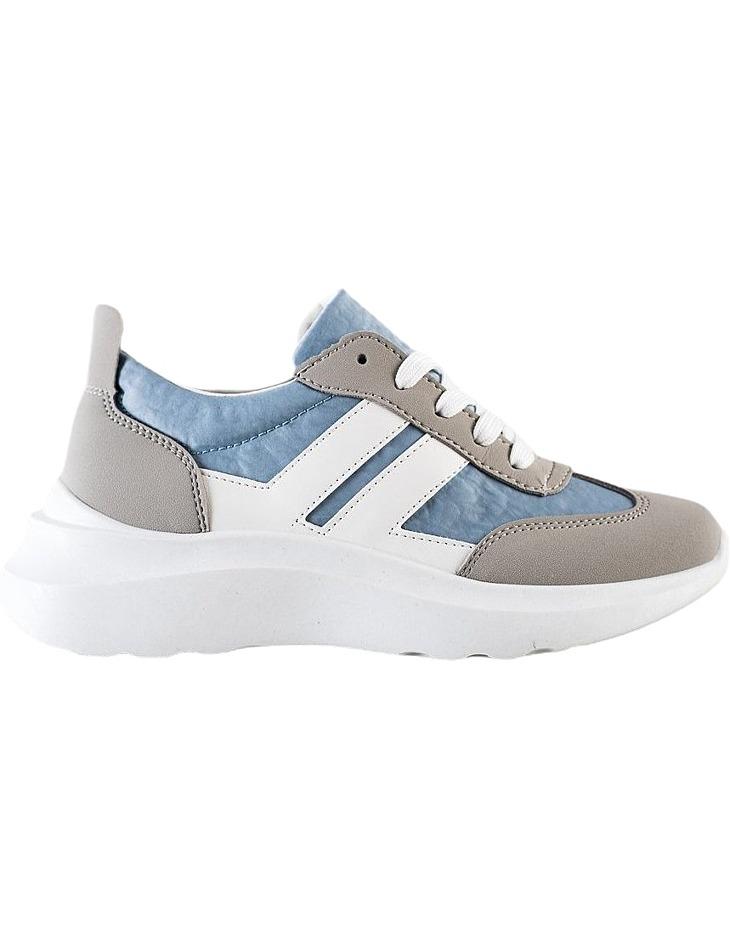 Bílo-šedo-modré sportovní boty na platformě vel. 36