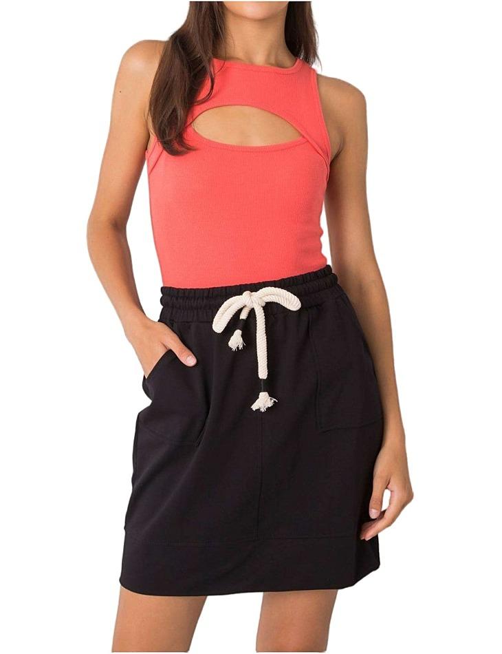 černá tepláková sukně s kapsami vel. L/XL