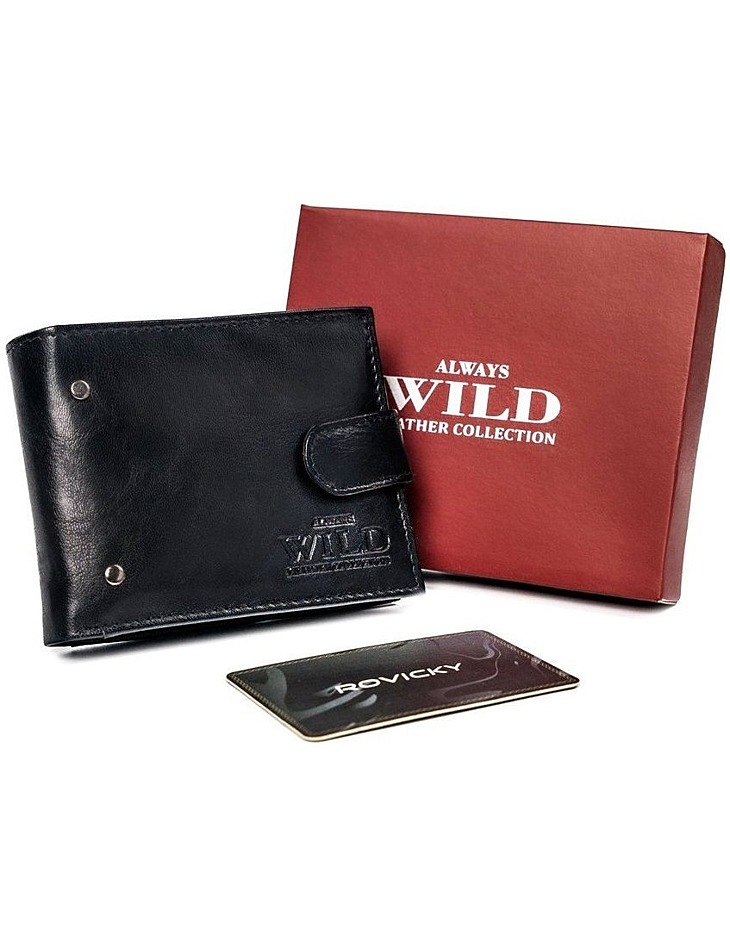 černá pánská peněženka always wild vel. ONE SIZE