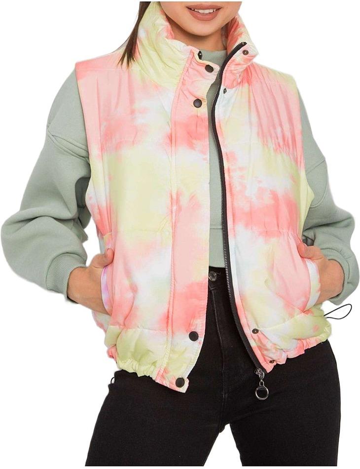 Barevná dámská prošívaná vesta vel. XL