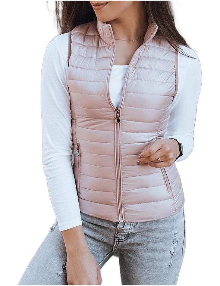 Světle růžová prošívaná vesta vel. XL