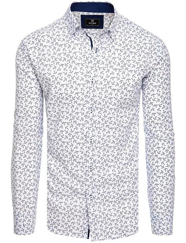 Bílá košile se vzorem větviček vel. XL