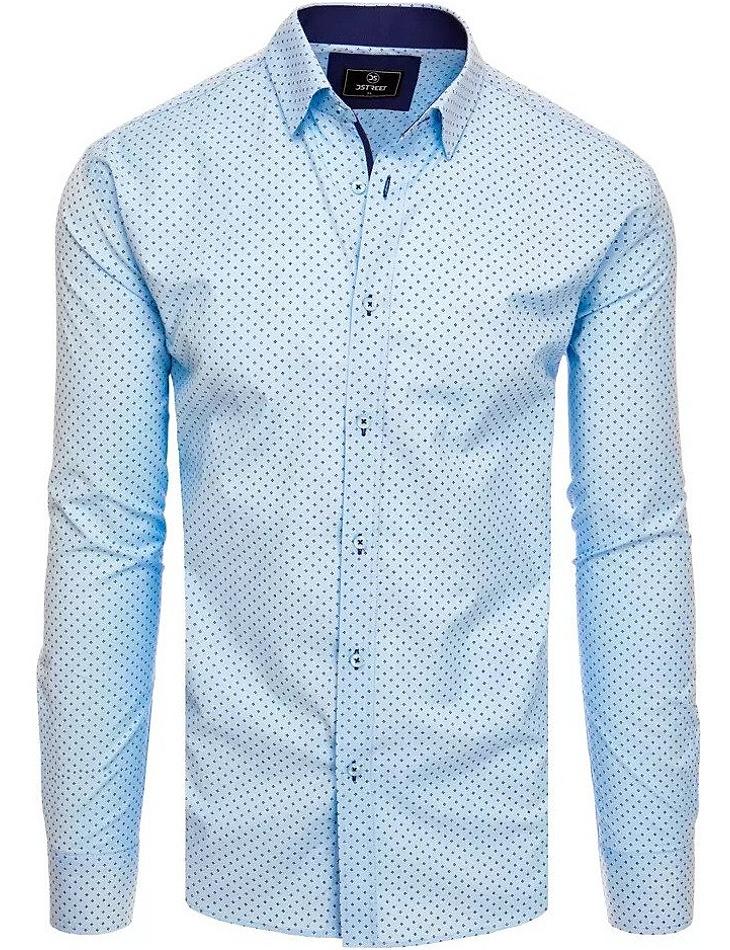 Světle modrá košile s tečkami vel. XL