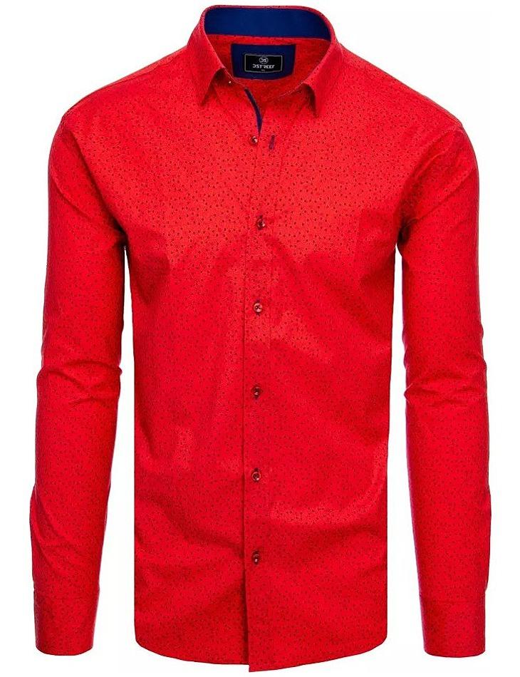červená košile s tečkami vel. XL