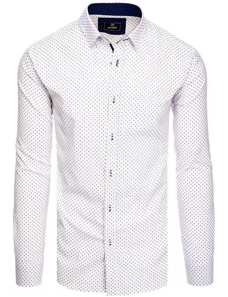 Bílá košile s jemným vzorem vel. XL